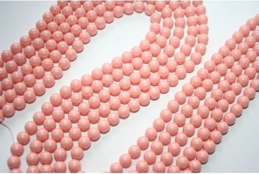 Swarovski Pearls 5810 6mm Pink Coral - 12pcs