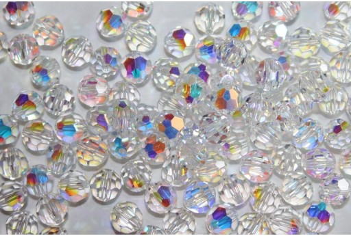Round Swarovski Crystal AB 6mm - 5pcs