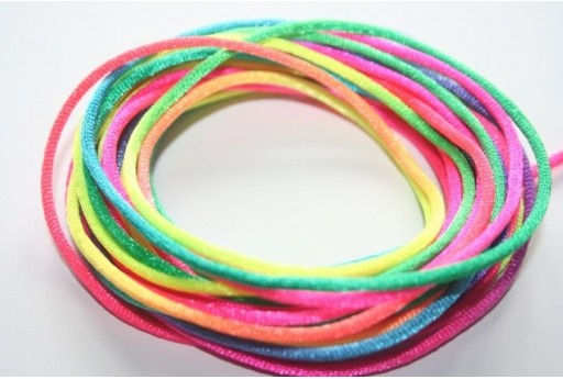 Satin Rattail Cord 2mm Multicolour - 5m