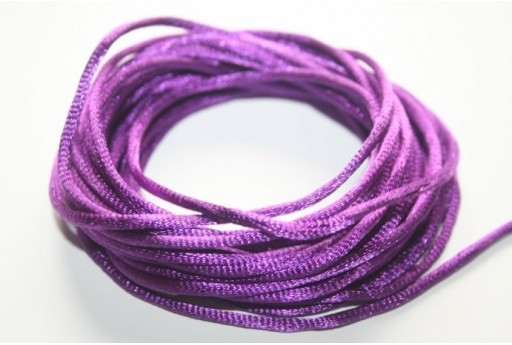 Satin Rattail Cord 2mm Violet - 5m