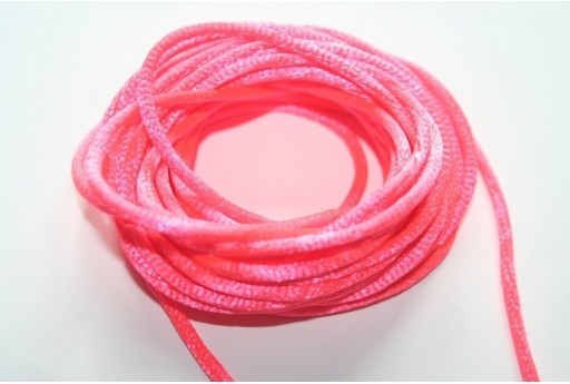 Satin Rattail Cord 2mm Coral Red - 5m