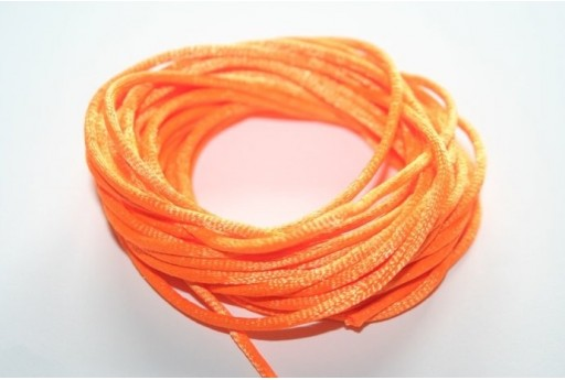 Satin Rattail Cord 2mm Orange - 5m