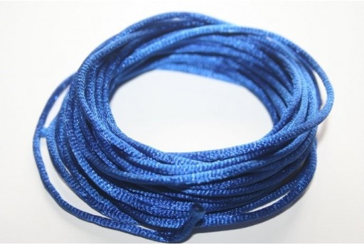 Satin Rattail Cord 2mm Blue - 5m