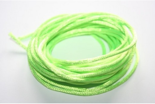 Satin Rattail Cord 2mm Light Green - 5m