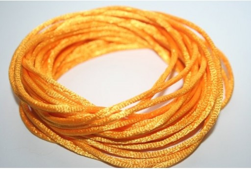Satin Rattail Cord 2mm Yellow - 5m