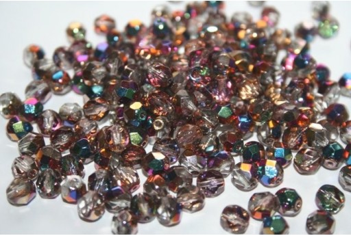 Fire Polished Beads 6mm, 30pz, Vitex-Crystal Col.VX00030