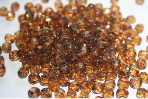 Fire Polished Beads Crystal-Picasso 6mm - 30pz