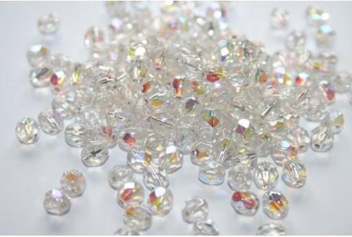 Perline Mezzi Cristalli 6mm, 30pz, Silver Lined-Crystal AB Col.SLX00030