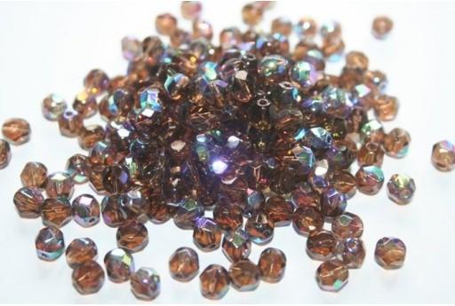 Perline Mezzi Cristalli 6mm, 30pz, Smoky Topaz AB Col.X10220