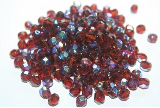 Fire Polished Beads Dark Topaz AB 6mm - 30pz X10120