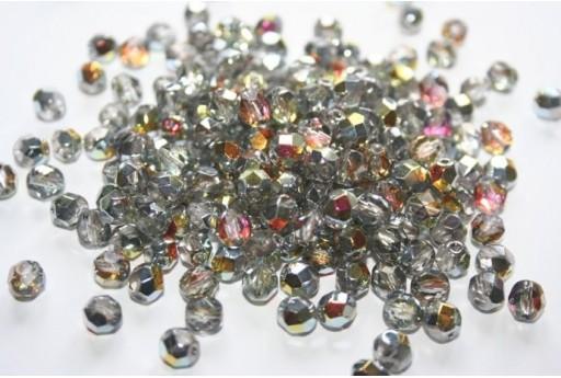 Fire Polished Beads Crystal/Marea 6mm - 30pz