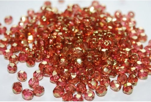 Fire Polished Beads 6mm, 30pz, Luster-Pink Col.LK00030