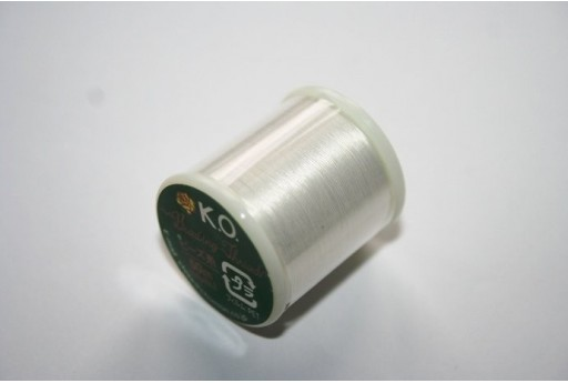 Filo Nylon KO 0,25mm Bianco 50mt. Col.01WH