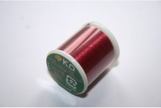 KO Nylon Thread 0,25mm Red 50m Col.06RD