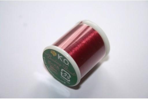 Filo Nylon KO 0,25mm Rosso 50mt. Col.06RD