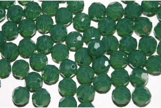Round Swarovski Palace Green Opal 8mm - 2pcs