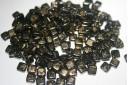 Tile Beads 6mm, 50Pz., Gold Marbled-Jet Col.GM23980