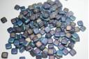 Tile Beads 6mm, 50Pz., Matte Iris Blue Col.21135JT