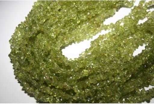 Filo Circa 220 Pietre Quarzo Olive Chips 5x7mm QUO01