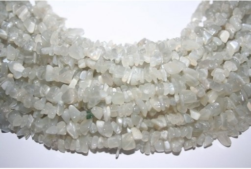 Moonstone Beads Grey Chips 6x10mm - 220pz