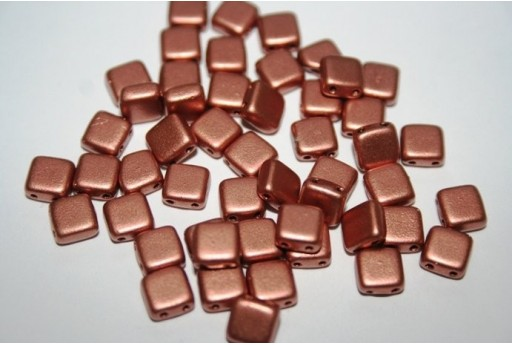 Perline Tile 6mm, 50Pz., Matte Metalli Copper Col.K0177
