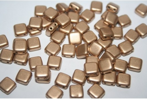 Tile Beads 6mm, 50Pz., Matte Metallic Flax Col.K0171