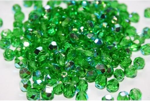 Perline Mezzi Cristalli 6mm, 30pz, Green AB Col.X50100