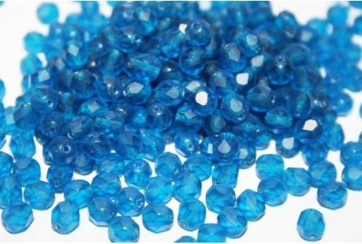 Perline Mezzi Cristalli 6mm, 30pz, Matte Capri Blue Col.M60080