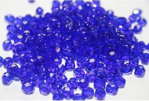 Perline Mezzi Cristalli Dark Sapphire 6mm - 30pz