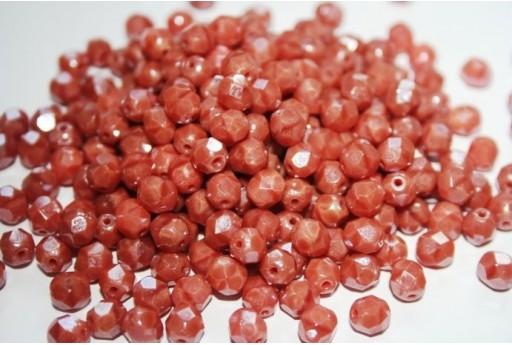 Perline Mezzi Cristalli 6mm, 30pz, Luster-Pink Coral Col.LO74020