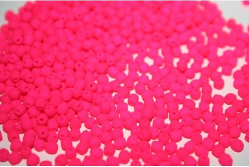 Fire Polished Beads Neon-Pink 3mm - 60pz