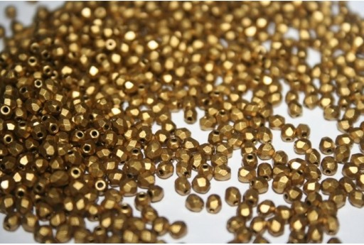 Fire Polished Beads Matte Metallic Aztec Gold 3mm - 60pz
