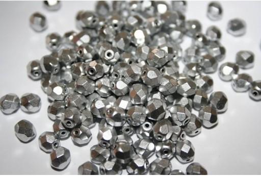Fire Polished Beads 6mm, 30pz, Matte Metallic Dural Col.K0170JT