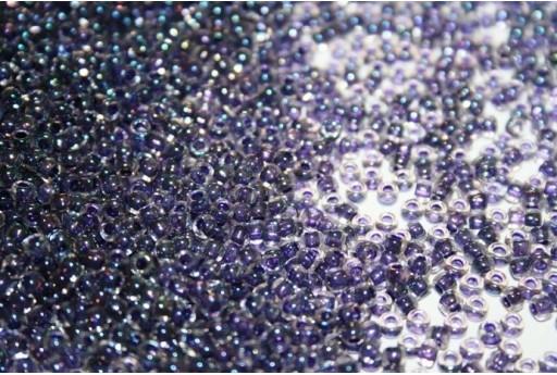 Toho Seed Beads 8/0, 10gr., Inside Color Rainbow Crystal/Tanzanite Lined Col.181