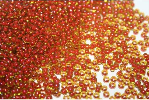 Toho Seed Beads 8/0, 10gr., Inside-Color Jonquil/Hyacinth Lined Col.303