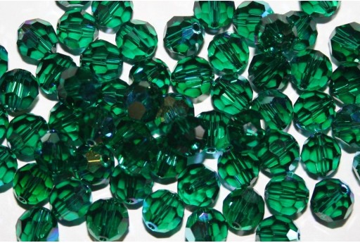 Round Swarovski Emerald AB 8mm - 2pcs