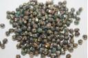 Perline Mezzi Cristalli Turquoise-Bronze Picasso 4mm - 60pz
