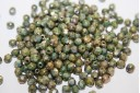 Perline Mezzi Cristalli Luster-Marble Green 4mm - 60pz