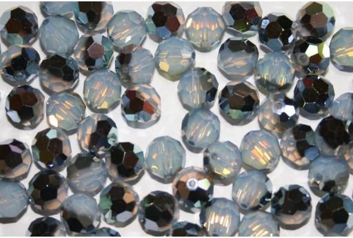 Round Swarovski White Opal Star Shine 8mm - 2pcs