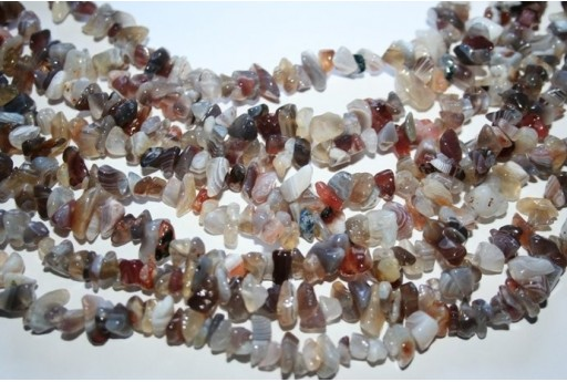 Agate Botswana Beads Chips 5x8mm - 220pz