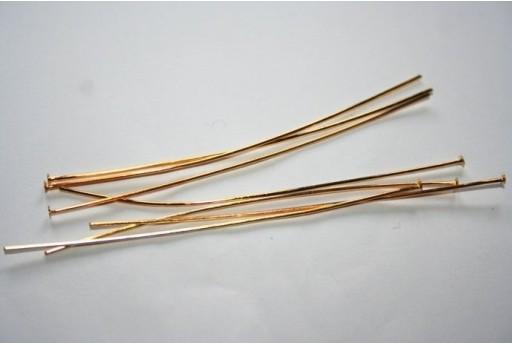 Chiodini Testa Piatta Colore Oro 70x0,7mm - 30pz