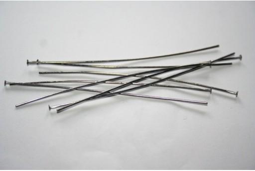 Chiodini Testa Piatta Colore Nero 70x0,7mm - 30pz