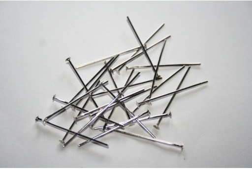 Platinum Plated Headpins 2,6x0,7mm - 100pcs