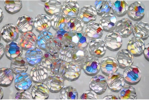 Round Swarovski Crystal AB 8mm - 2pcs