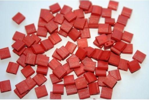 Miyuki Tila Beads Burnt Sienna 5mm - 5gr