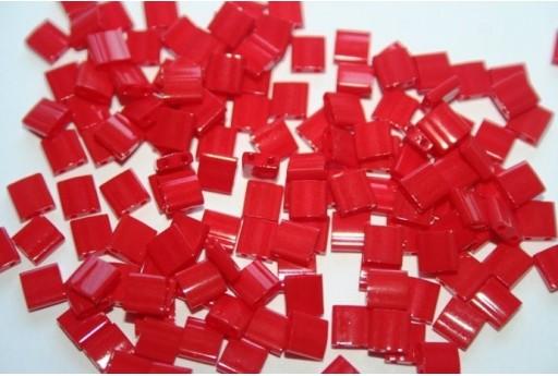Perline Miyuki Tila Opaque Red 5mm - 5gr