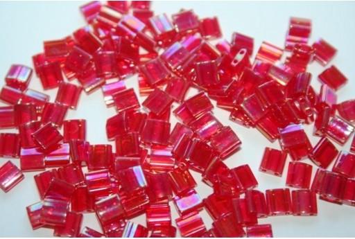 Miyuki Tila Beads Transparent Red AB 5mm - 5gr