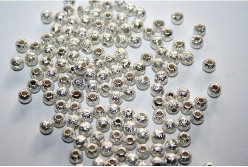 Distanziatori Sfera Diamantata Colore Argento 4mm - 36pz