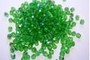 Perline Mezzi Cristalli Green AB 4mm - 60pz