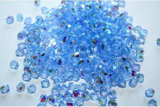 Perline Mezzi Cristalli Med Sapphire AB 4mm - 60pz